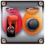 Flip-up Start / Ignition switch panel w/o pilot light High capacity 40 amp at 12 volts ignition switch with aircraft style cover  Easy to turn off in an emergency from any angle even with gloves Wil. Please Click the image for more information.
