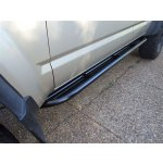 GQ LWB Gusseted, Plated Rock Sliders GQ LWB gusseted plated sliders These sliders are mounted angled up to follow the line of the sill and give you that added bit of clearance T. Please Click the image for more information.