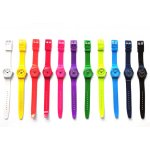 Loot Small Plastic Colours Attractive small slim PVC band Loot watch with matching coloured dial and simple clear index markings. Please Click the image for more information.
