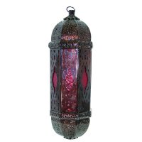 Moroccan lantern red Moroccan lantern red in antique finish Please Click the image for more information.