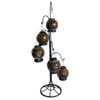 Amber lantern (set 5) /stand Amber lantern set 5 with black metal stand Please Click the image for more information.