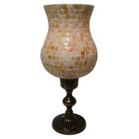Mother of pearl bulb shape c/h Mother of pearl bulb shape hurricane candle holder with stand  Please Click the image for more information.