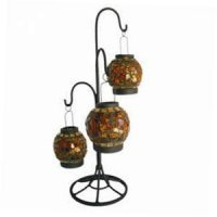 Amber lantern (set 3) w/stand Amber lantern set 3 on black metal stand Please Click the image for more information.