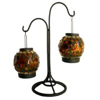 Amber lantern (set 2) w/stand Amber lantern set 2 on black metal stand Please Click the image for more information.