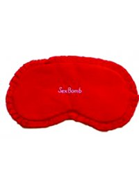 SEX BOMB RED SILK EYEMASK WITH EMBROIDERYSEX BOMB Please Click the image for more information.