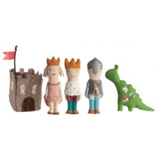 maileg fabric castle set Your loved one will rule the kingdom with this royal rattle set featuring a princess prince knight dinosaur and castle knit in soft cotton with plush polyester fillinc. Please Click the image for more information.