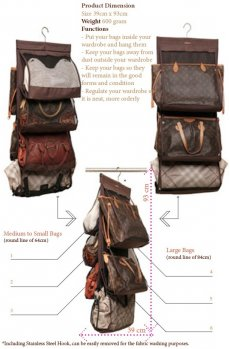 HBK (Hanging Bag Keeper) Do you have many bags placed unorganised in your wardrobeDoes it look messyAre stressful for lifeCHANGE  Change your habitFor only $350. Please Click the image for more information.