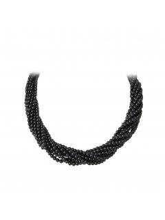 10713B MOCHA TWISTED PEARL CHOKER WITH MAGNETIC DIAMONTE CLASP 22 Please Click the image for more information.