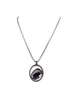 10764B LONGS HEMATITE NECKLACE WITH DIAMONTE DISC Please Click the image for more information.