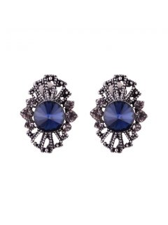 E0641A BLUE FILIGREE CLIP ON EARRINGS Please Click the image for more information.