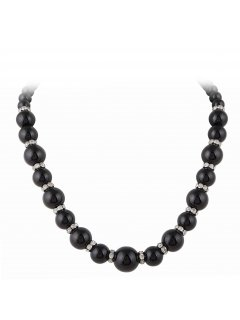 10756C BLACK PEARL DIAMONTE CHOKER Please Click the image for more information.