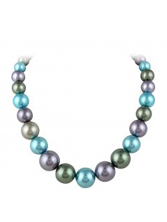 10757C MULTI COLOURED PEARL CHOKER Please Click the image for more information.