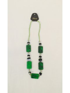 10787A GREENBLACK WOODEN NECKLACE Please Click the image for more information.
