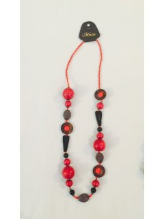 10789A RED BEADED NECKLACE Please Click the image for more information.