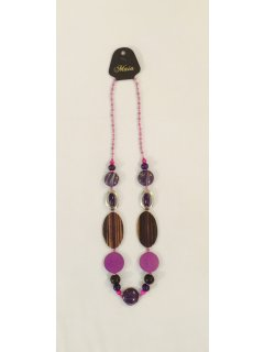 10790A PURPLE BEADED NECKLACE Please Click the image for more information.