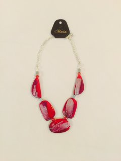 10791A RED WOODEN NECKLACE Please Click the image for more information.