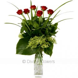 Rouge (Red Rose Vase)  Priced from $ 120  Click for more details