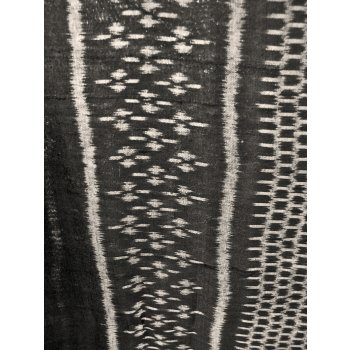 Black and White Ikat panel Black and White Ikat wall hanging from Cambodia  This piece uses the traditional ikat technique to produce a highly contemporary and more abstract design . Please Click the image for more information.