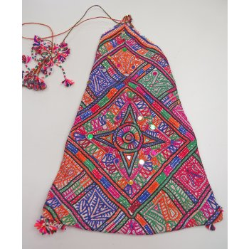 Rabari Dowry Bag with star design Dhebaria Rabari Dowry bag from Gujarat in India  The designs are made from cotton thread corded and stitched through hand embroidery and appliqu worked on a handwoven natural cotton fabric  T. Please Click the image for more information.