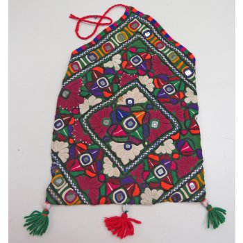 Meghwal Dowry Bag Meghwal  Dowry Bag from Kutch in Gujarat India  The dense floral designs are hand stitched in very fine cotton thread on green cotton fabric  . Please Click the image for more information.