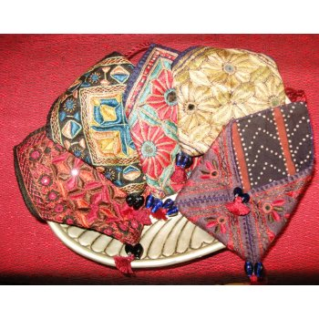 Indian Embroidered Pouch with cord wrap Hand embroidered cotton  envelope pouch from Gujarat India  The bag is hand embroidered in silk thread and some incorporate small mirrors  . Please Click the image for more information.